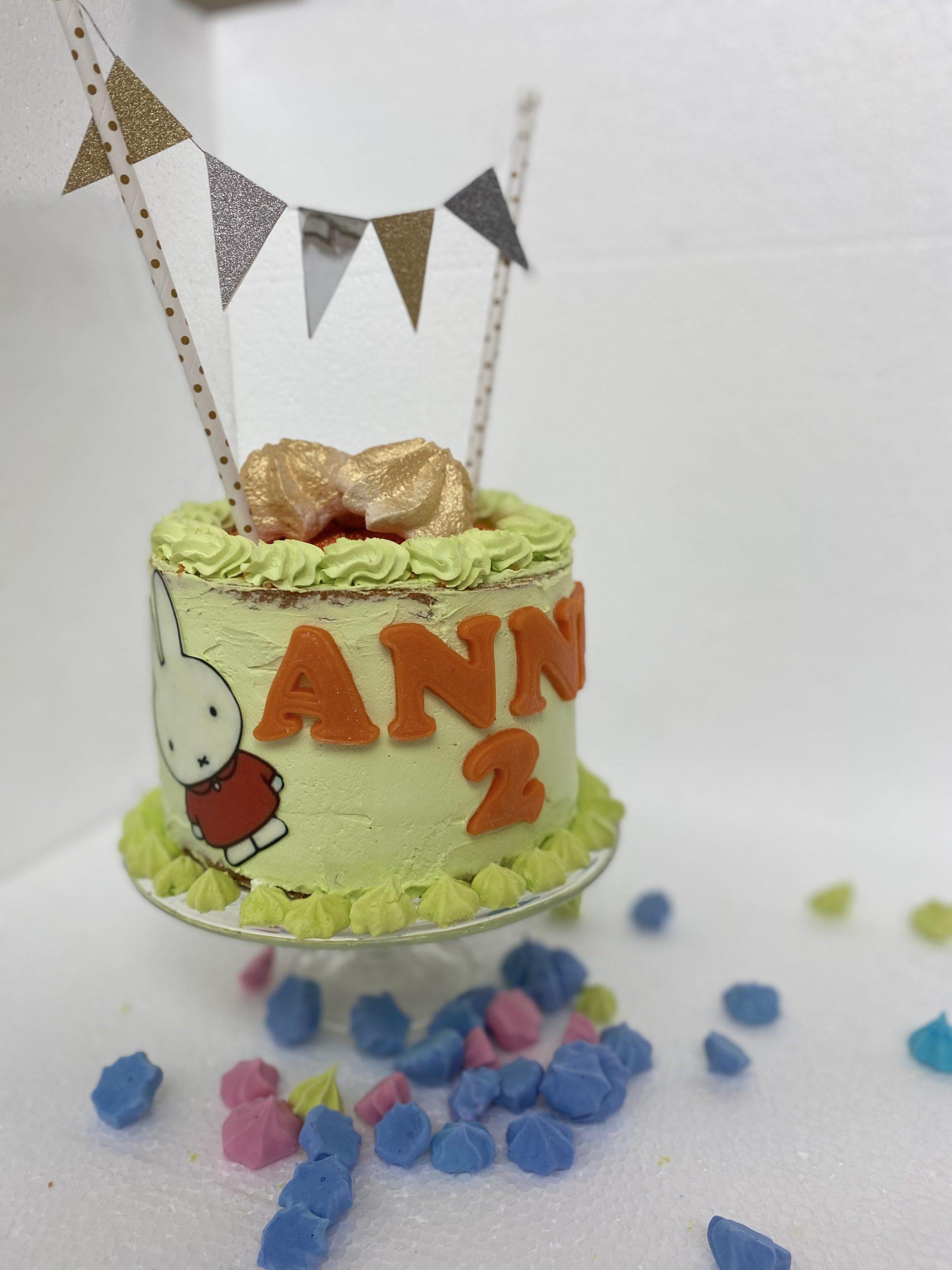 taart met naam en thema voor kinderen